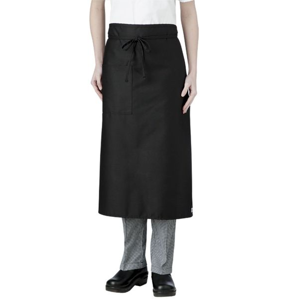 Black Long Waist Apron with pocket