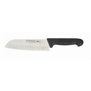 "Chef Works Santoku Knife 7"" blade. Santoprene handle."