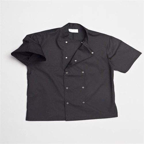 Chefs jacket with press stud front