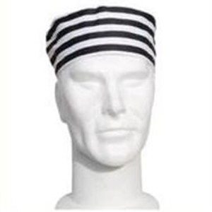 Chefs striped skull cap