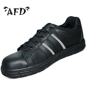 AFD black safety trainers