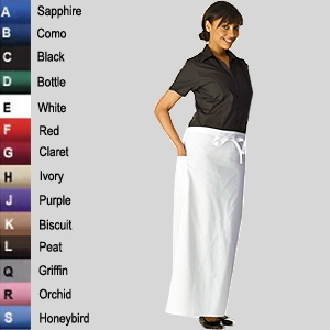 Long Bistro Waist Apron (14 colours)
