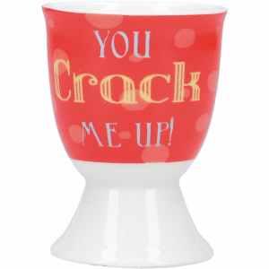 KitchenCraft Porcelain 'You crack me up' Egg Cup