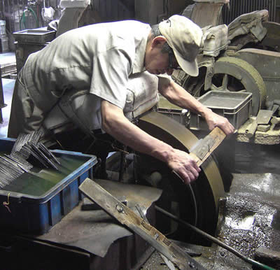 modern knife forging