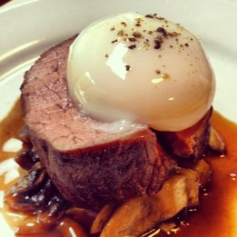 Dinner at home with the family. Sous vide beef tenderloin, 63* egg, roasted mushrooms, it was just perfect.