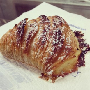 Sfogliatelle straight from the oven (Naples)