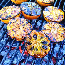 recipe for bitters using grilled clementines and raisins