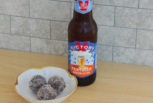Oktoberfest Truffles with Victory Festbier