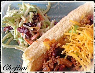 broccoli slaw chili dog 1