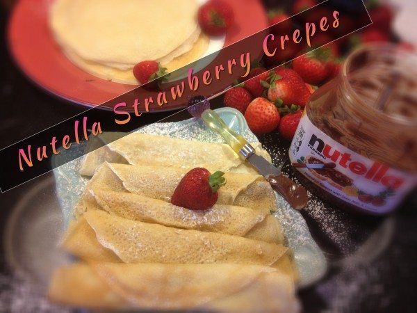 Palacinka - Croatian Crepes with Nutella and Strawberries