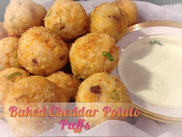 Baked Cheddar Puffs