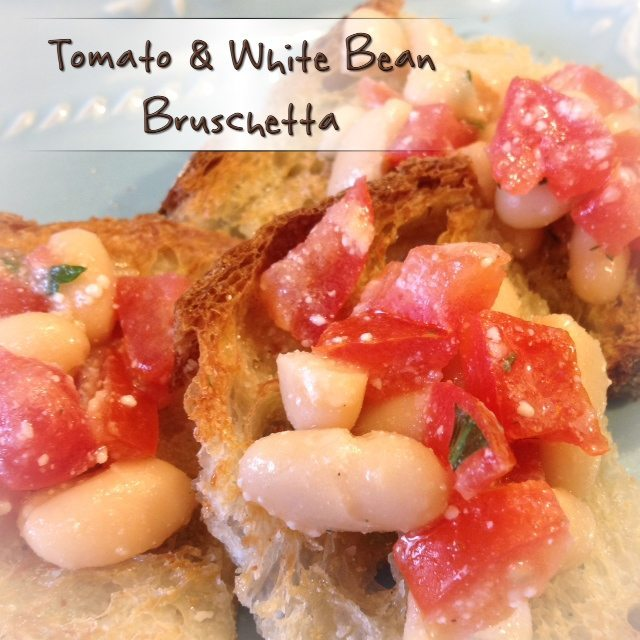 Tomato and White Bean Bruschetta