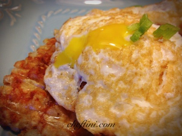 hashbrown and eggs