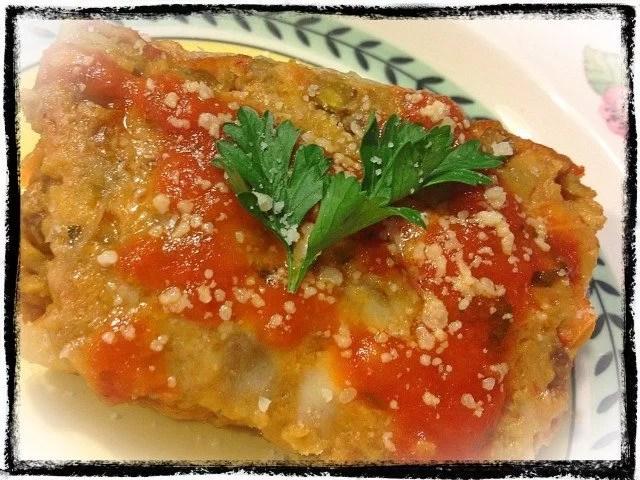 Lentil Eggplant Parmesan