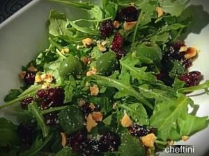 Arugula, hazelnuts, and Castelvetrano Olive Salad