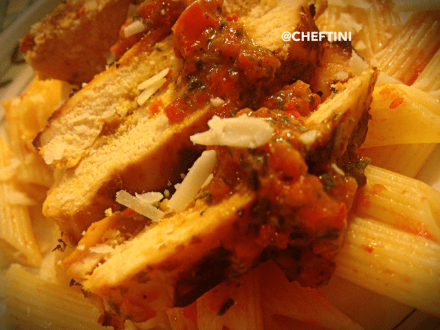 Grilled Chicken with Roasted Peppers
