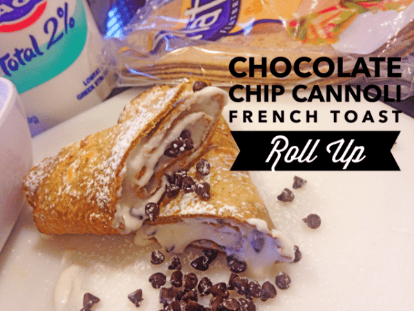 Cannoli French Toast Roll Up