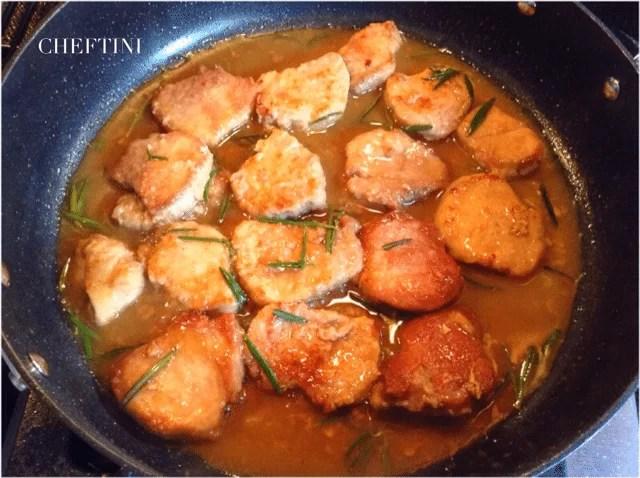 Simple Pork Marsala and Spinach Saute Dinner