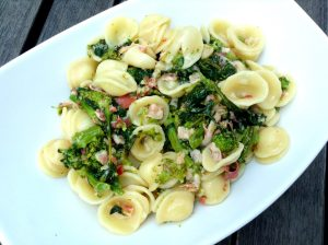 Broccoli di rabe and Italian Bacon with Orecchiette