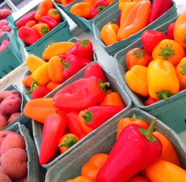 Farmers market mini peppers