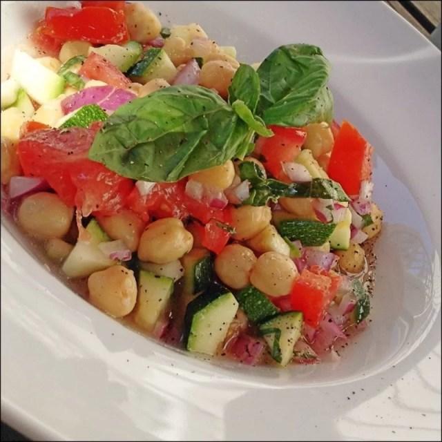 Zucchini Chickpea Salad