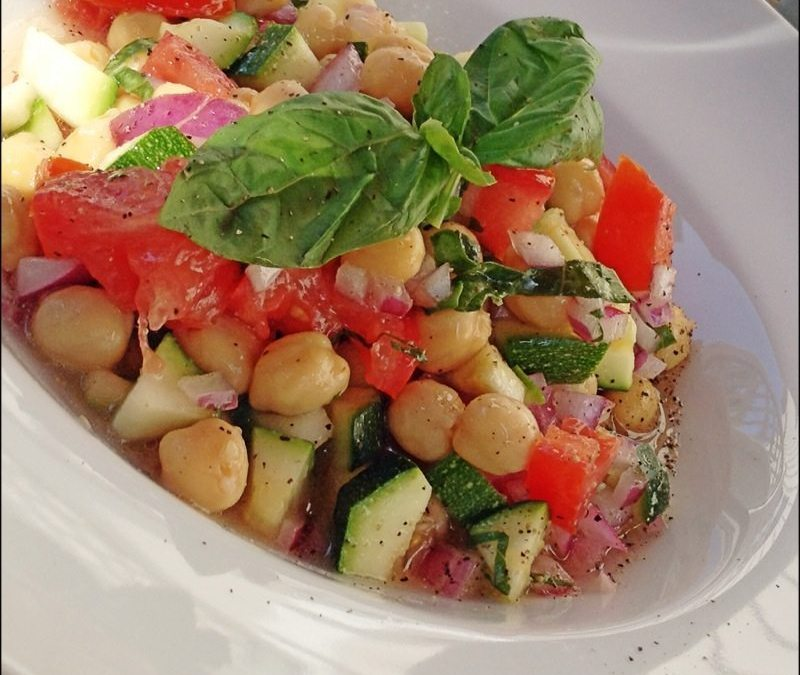Summer Zucchini and Ceci Salad