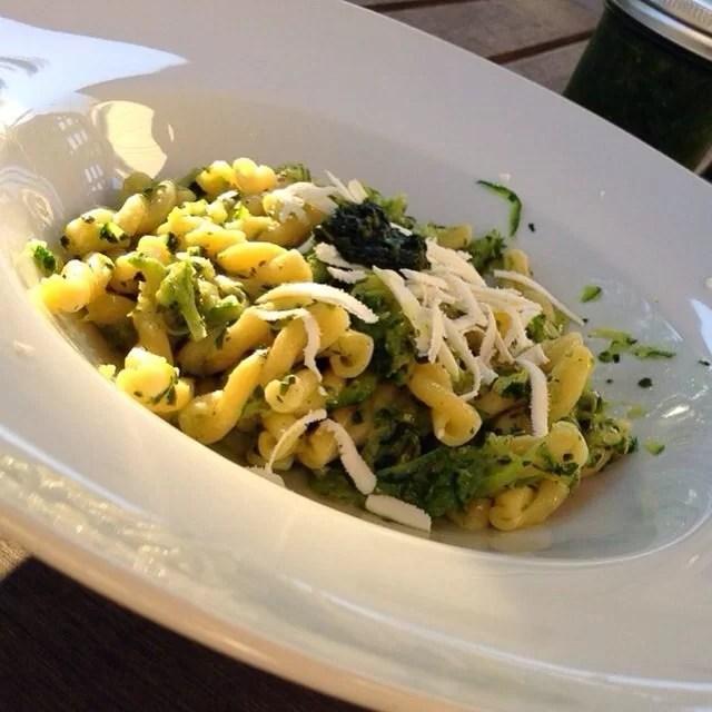 Gemelli Pasta and Zucchini in a Green Sauce