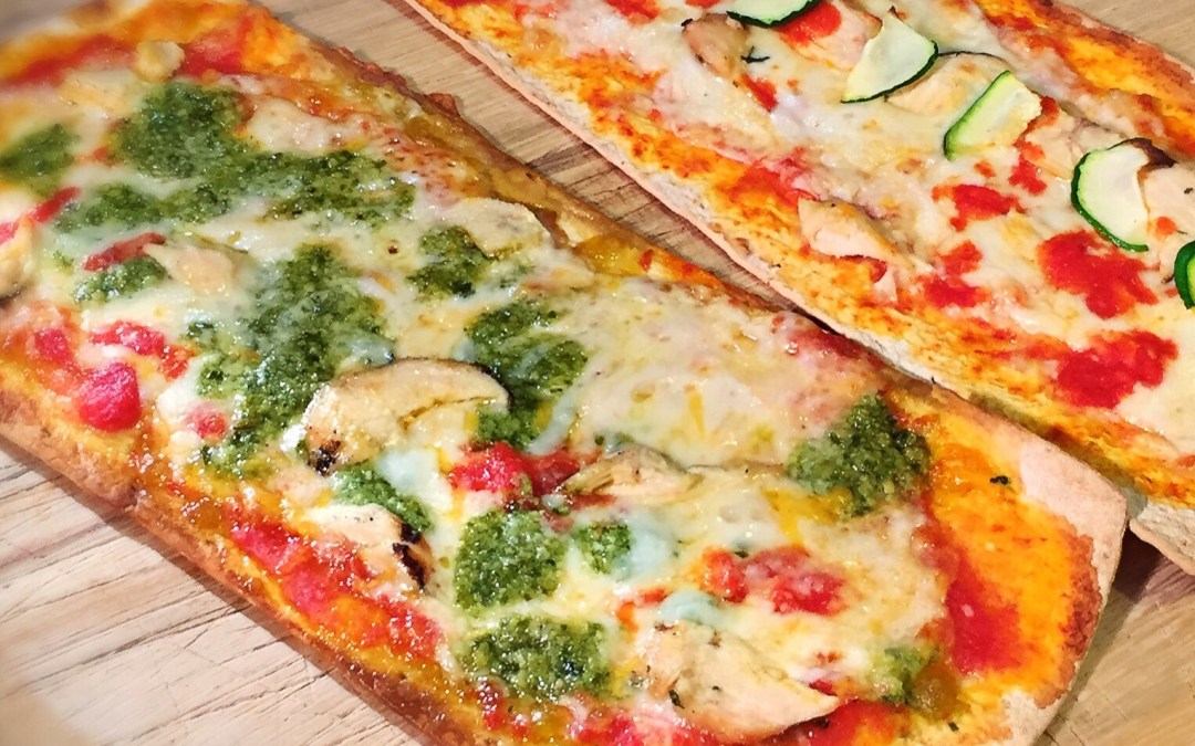 Grilled Chicken Pesto Flatbread Pizza