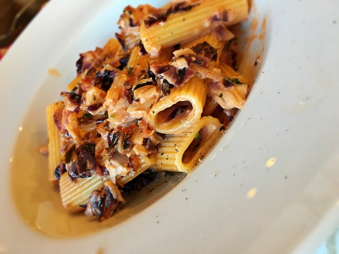 Rigatoni Pasta with Radicchio