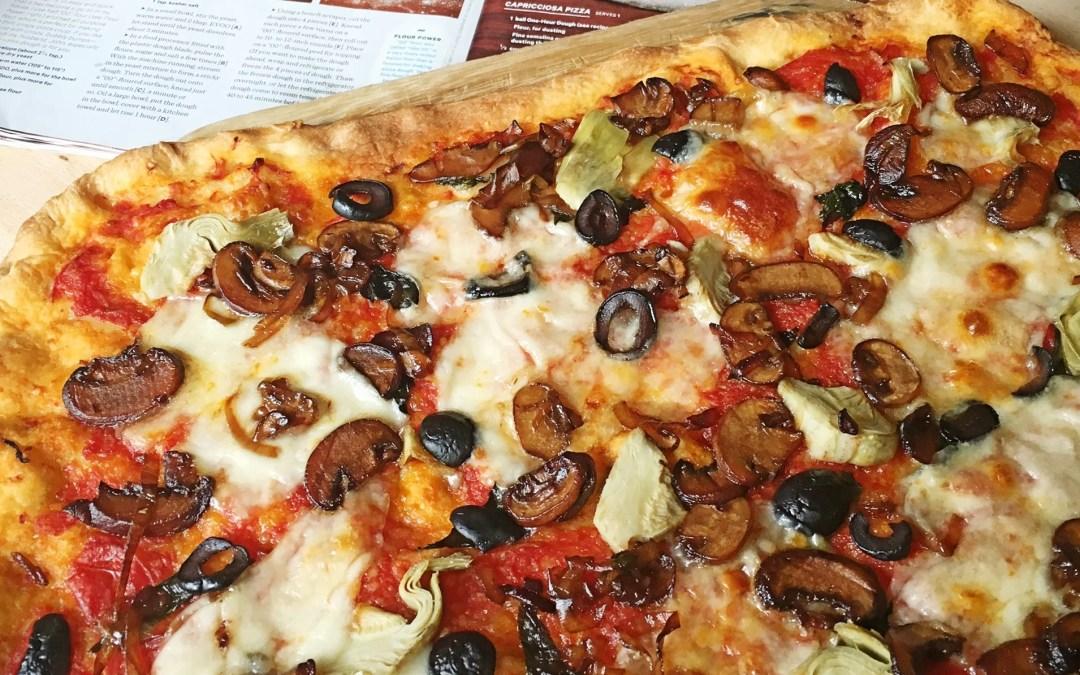 Meatless Pizza Capricciosa