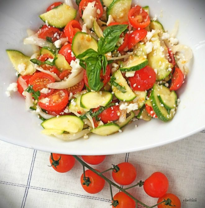 Tomato Zucchini Ricotta Salata Salad Logo