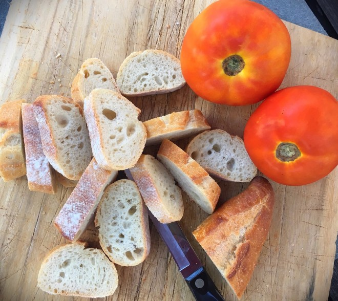 Heirloom Tomatoes and Baguette