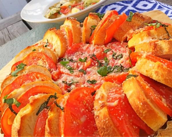 Parmesan Tomato Baguette Tart
