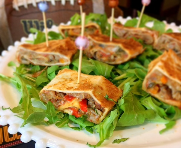 Simple Game Day Sausage Pizza Roll Ups