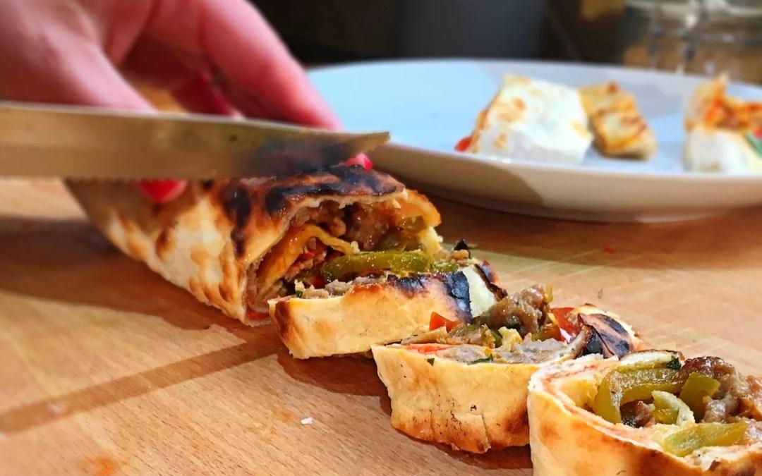 Cheftini's Kitchen: Tortilla Sausage Pizza Rolls