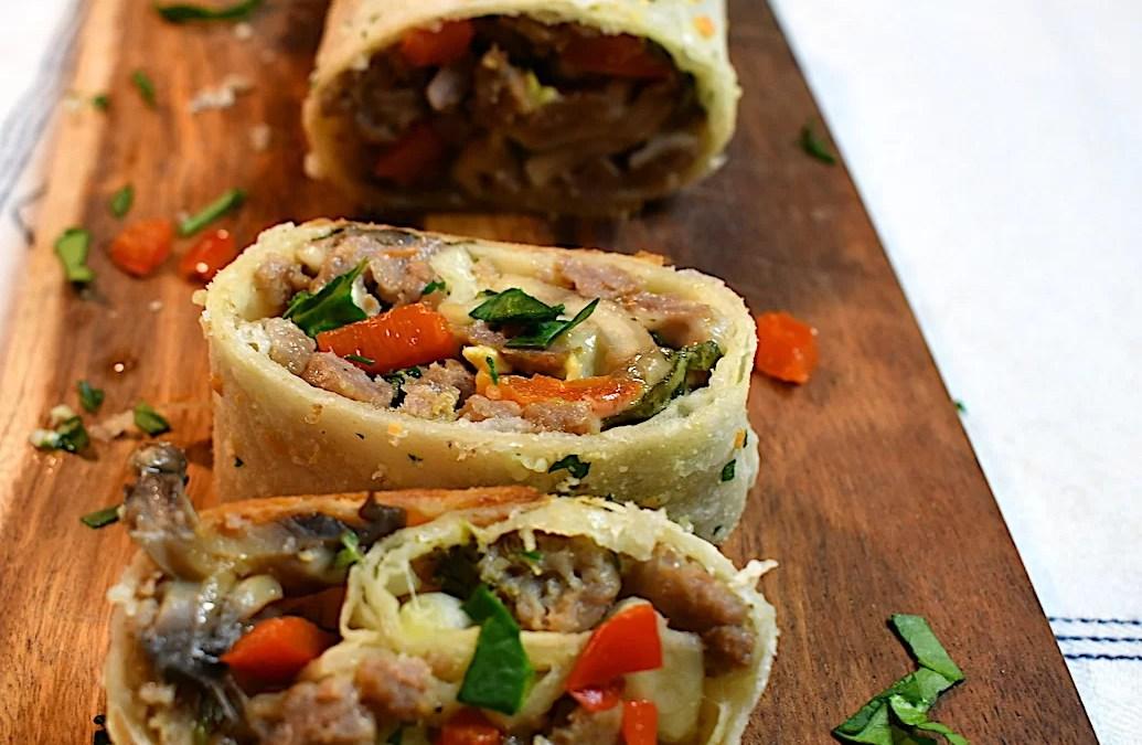 Tortilla Calzone Rolls