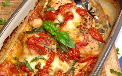 Baked Chicken Caprese Melt