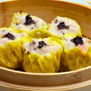 Black truffle, pork and shrimp dumplings