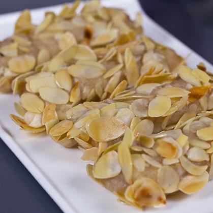 Flaky almond meat loaf sticks