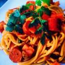 Smoked Chicken Sausage Spaghetti