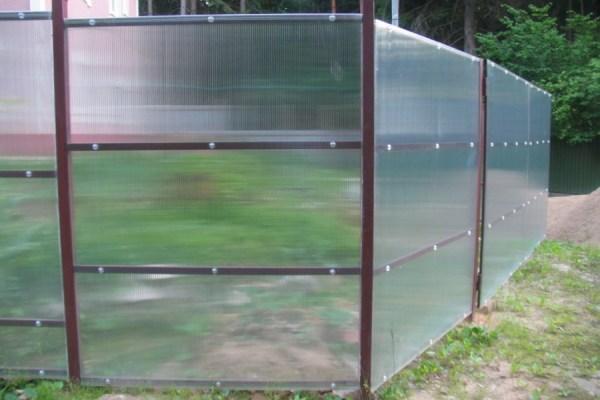 Заборы и ограждения Для дачи из поликарбоната недорого ...