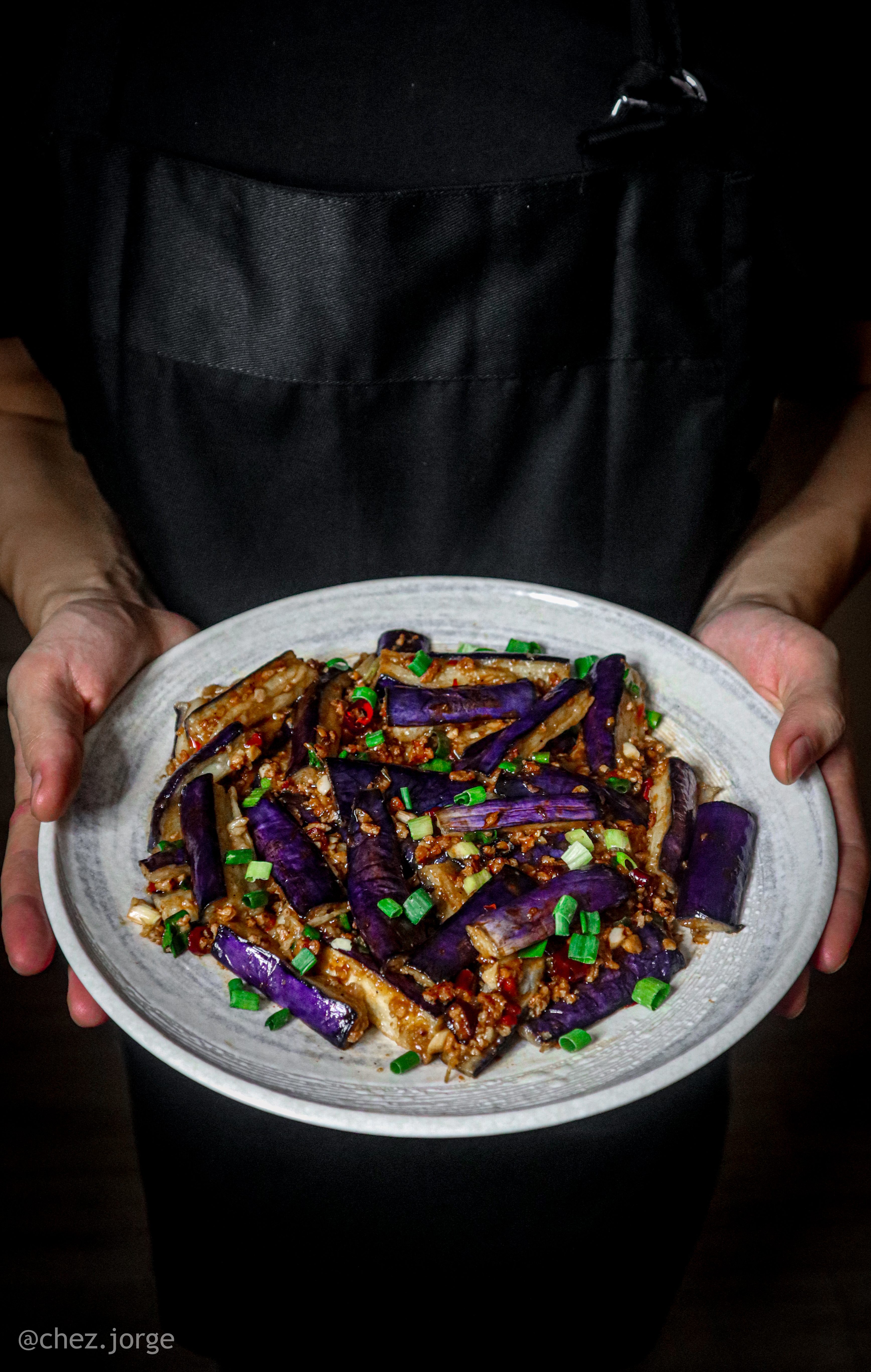 Vegan Fish Fragrant Eggplants (魚香茄子)
