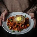 Kimchi Fried Rice with Vegan Fried Egg