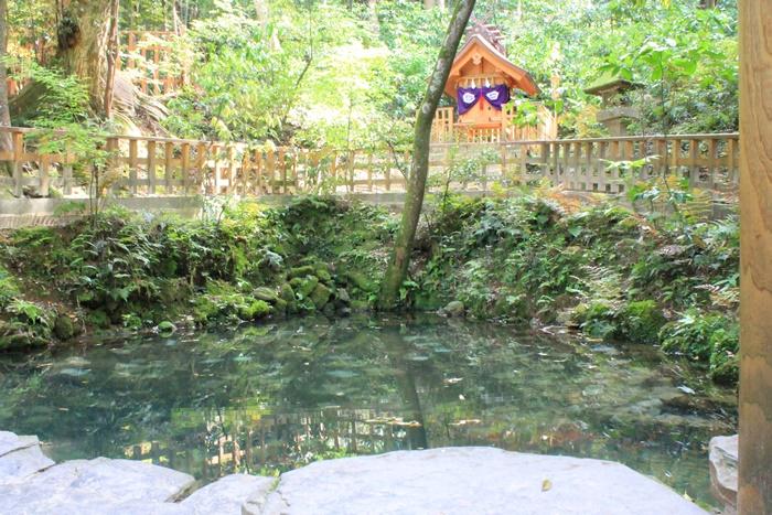 出雲の八重垣神社の鏡の池