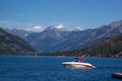 Boat on Lake Chelan