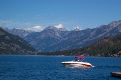 Boat on Lake Chelan