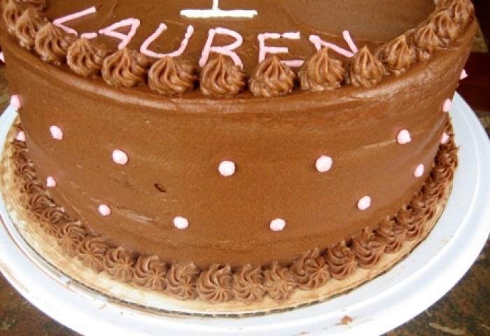 Yellow Cake With Chocolate Hazelnut Filling Chocolate Frosting