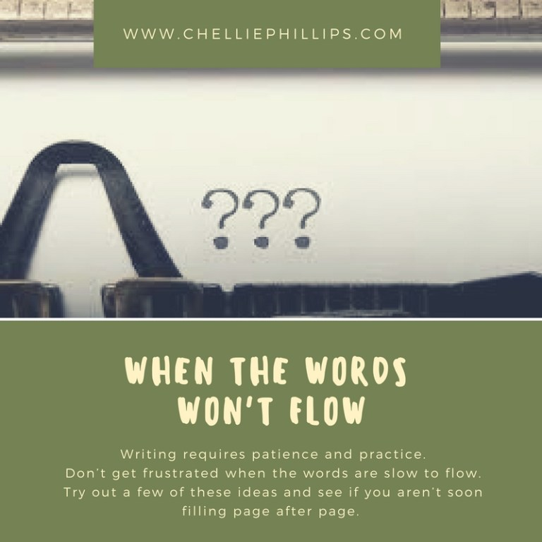When the words won't flow