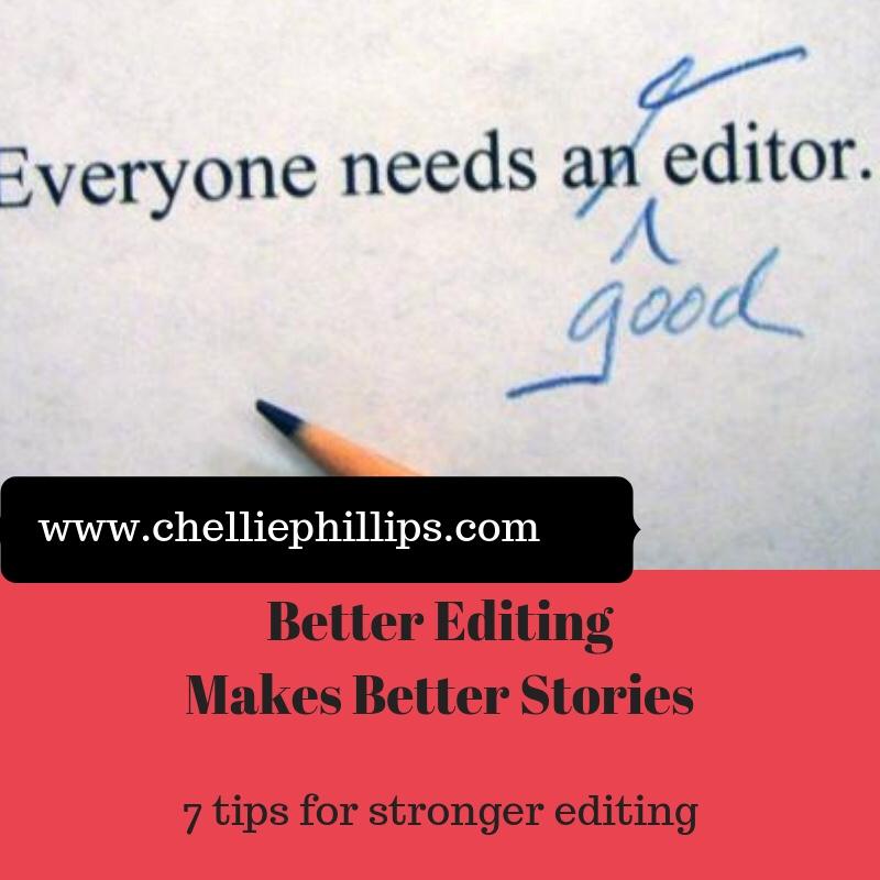 Better Editing Makes Better Stories