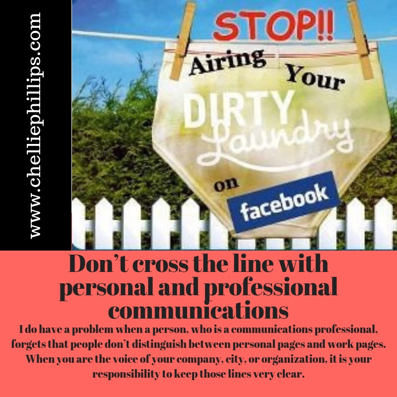 Don't air your dirty laundry on social media